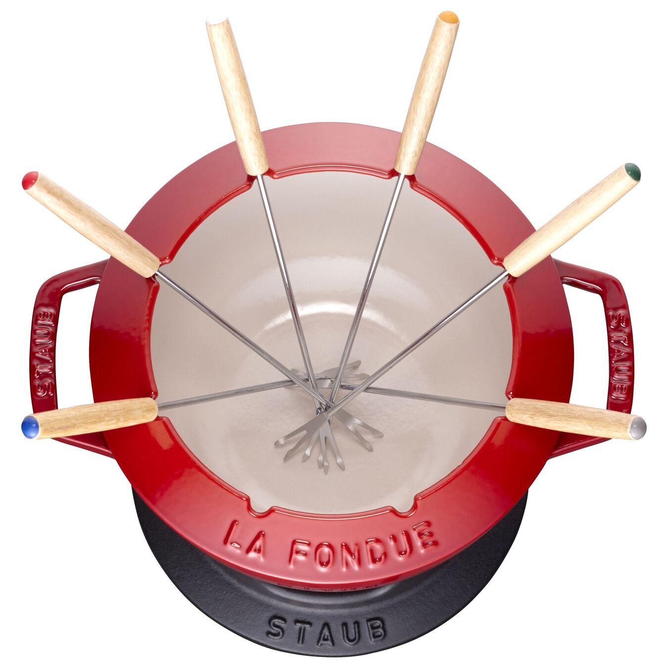 Service à fondue 18 cm, Cerise,,large 2