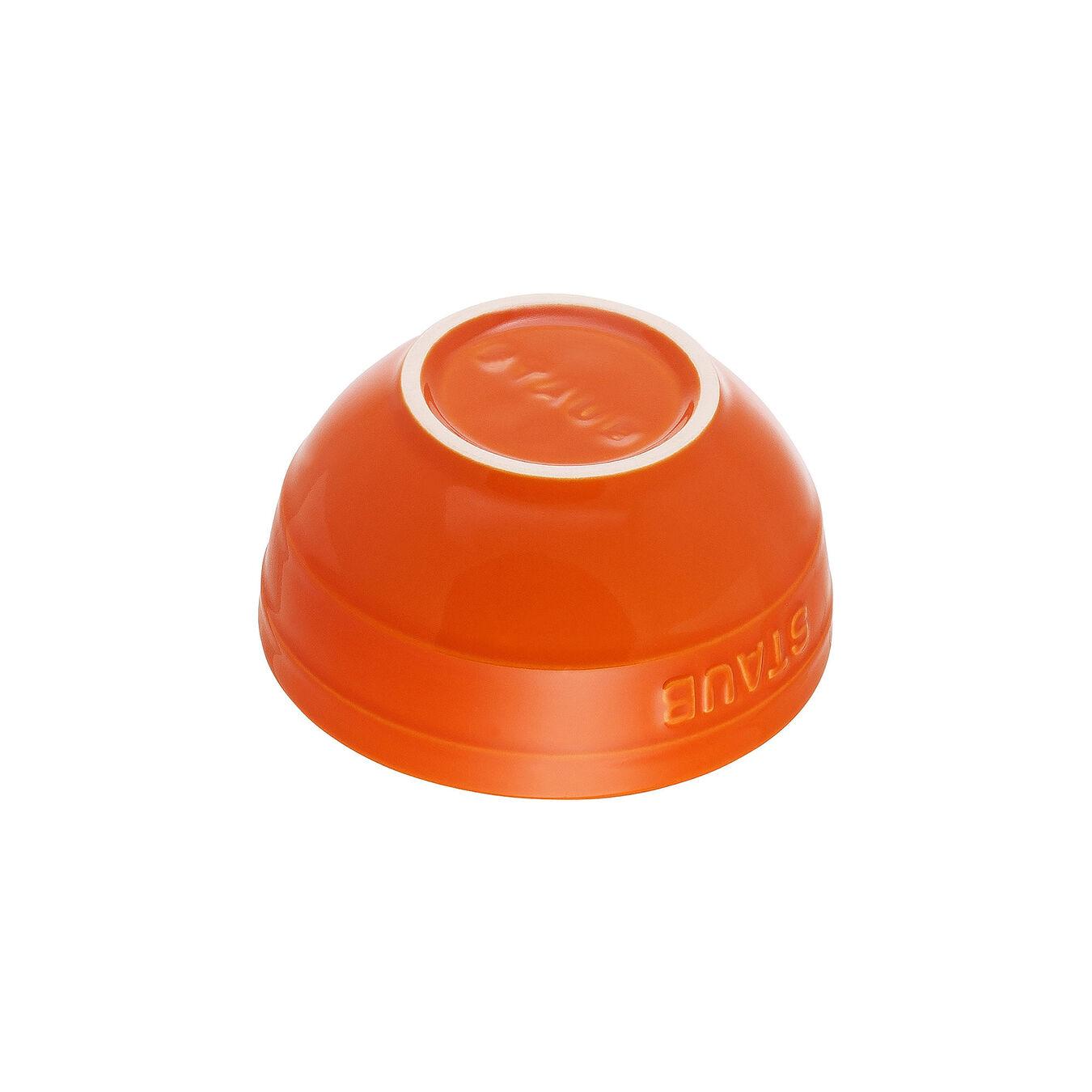 Schüssel 12 cm, Keramik, Orange,,large 2