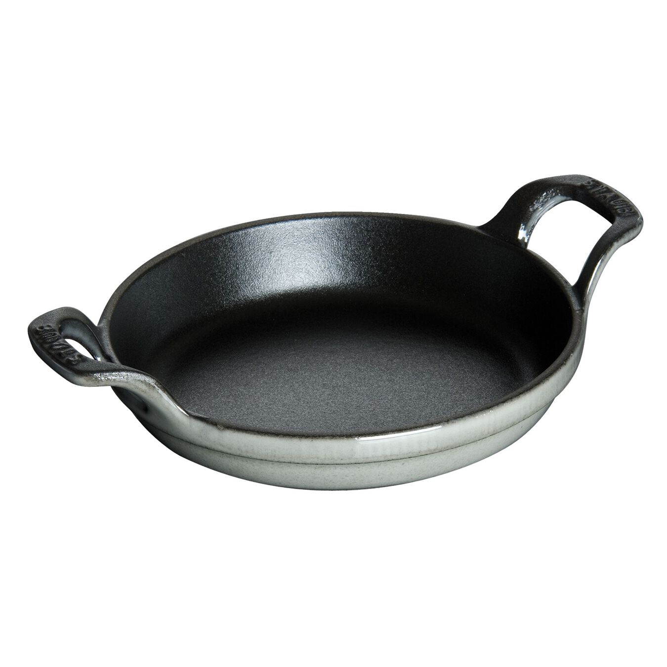 7.5-inch, round, Gratin Baking Dish, graphite grey,,large 2