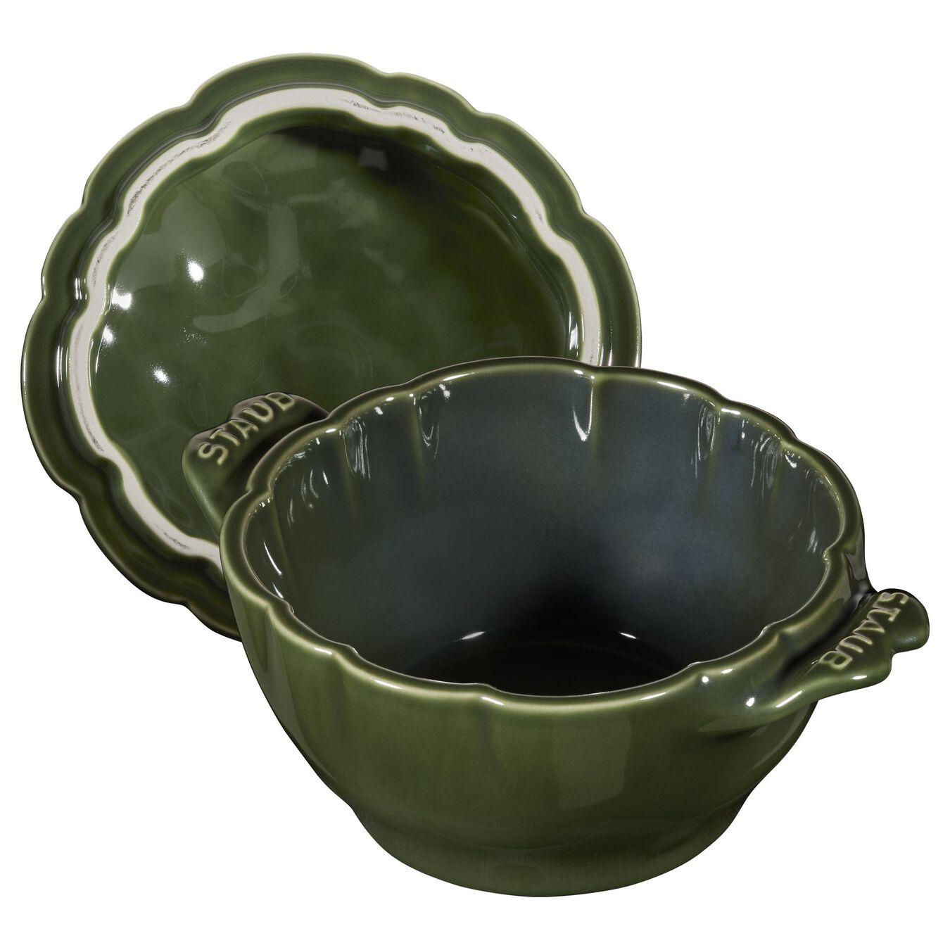 Cocotte 13 cm, Artischocke, Basilikum-Grün, Keramik,,large 5