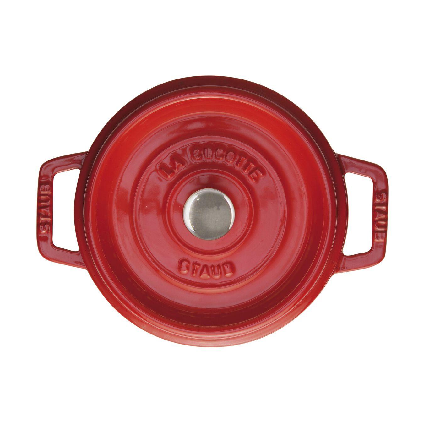 Cocotte 20 cm, rund, Kirsch-Rot, Gusseisen,,large 1