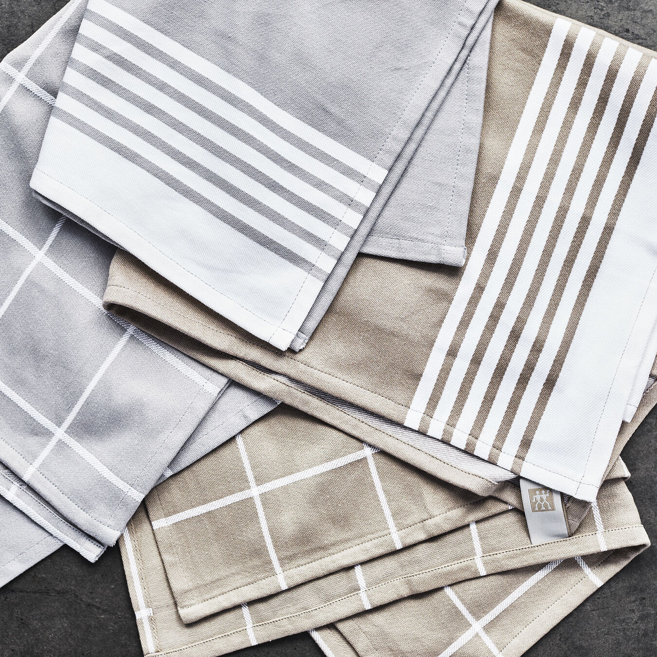 4-pc Kitchen Towel Set - Grey,,large 7