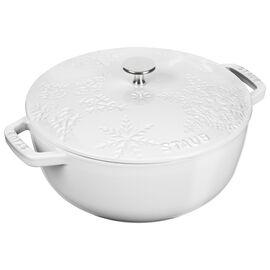 Staub Cast Iron, 3.75 qt, French oven, white