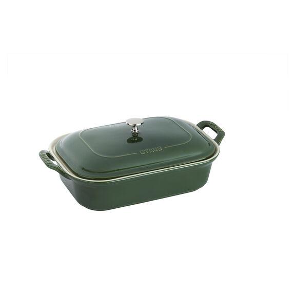 Ceramic Rectangular Covered Baking Dish, Basil,,large 2