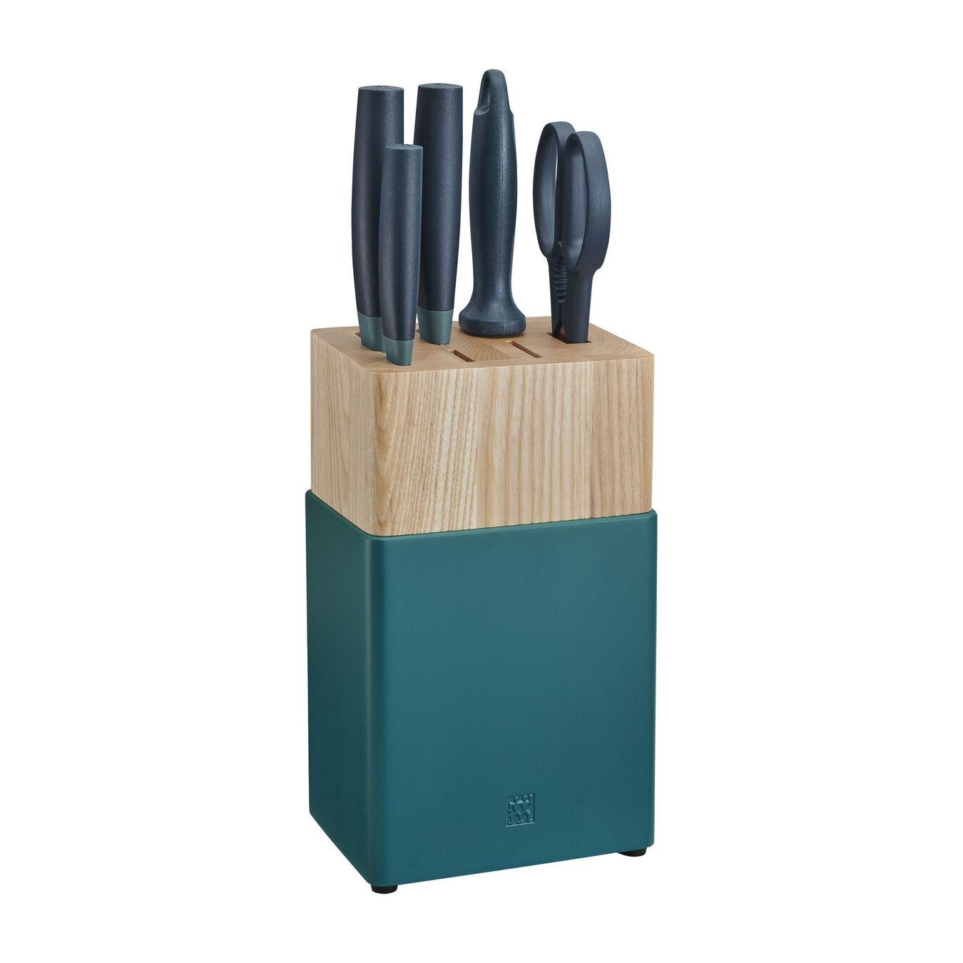 6-pc Knife Block Set - Blueberry Blue,,large 1