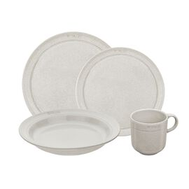 Staub Dining Line, Serving set, 48 Piece | white truffle | Ceramic | Ceramic