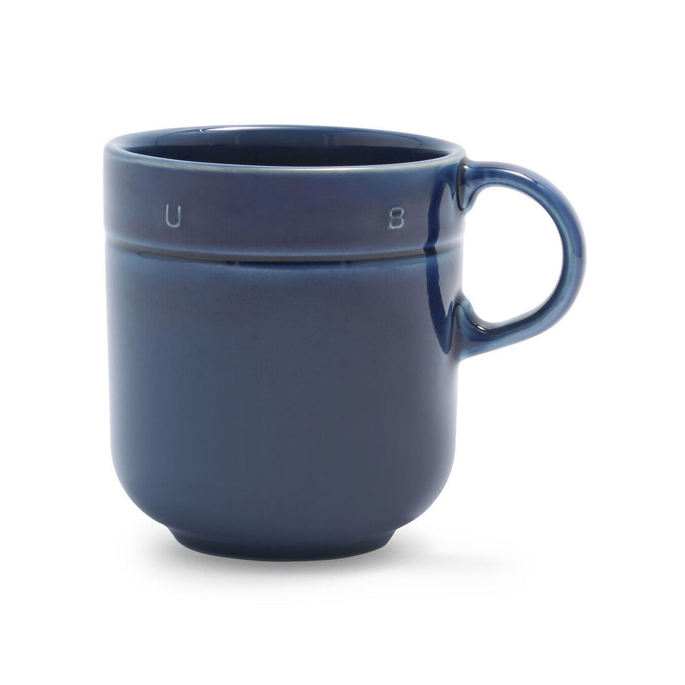 0.5 qt, Ceramic, Mug, dark blue,,large 1