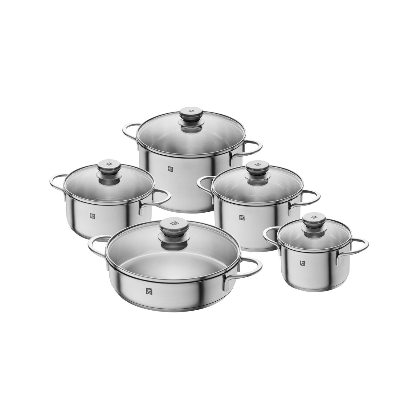 Tencere Seti | 18/10 Paslanmaz Çelik | 5-adet,,large 1