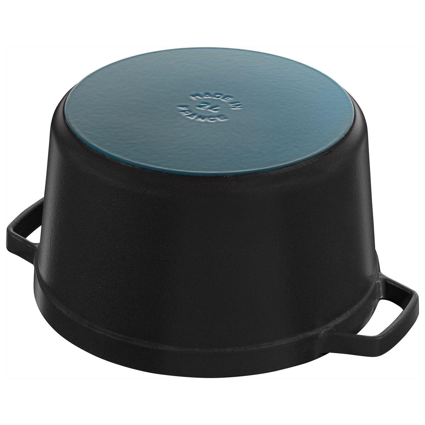 5 qt, round, Tall Cocotte, black matte,,large 4