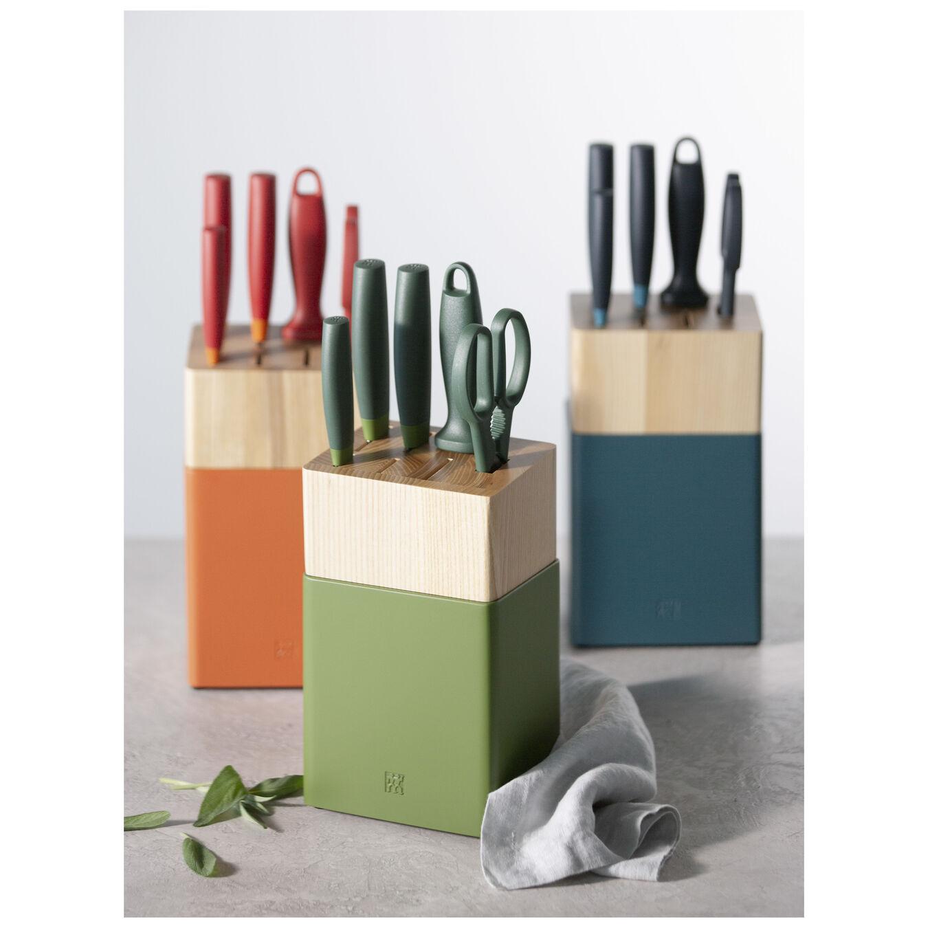8-pc Knife Block Set - Lime Green,,large 4