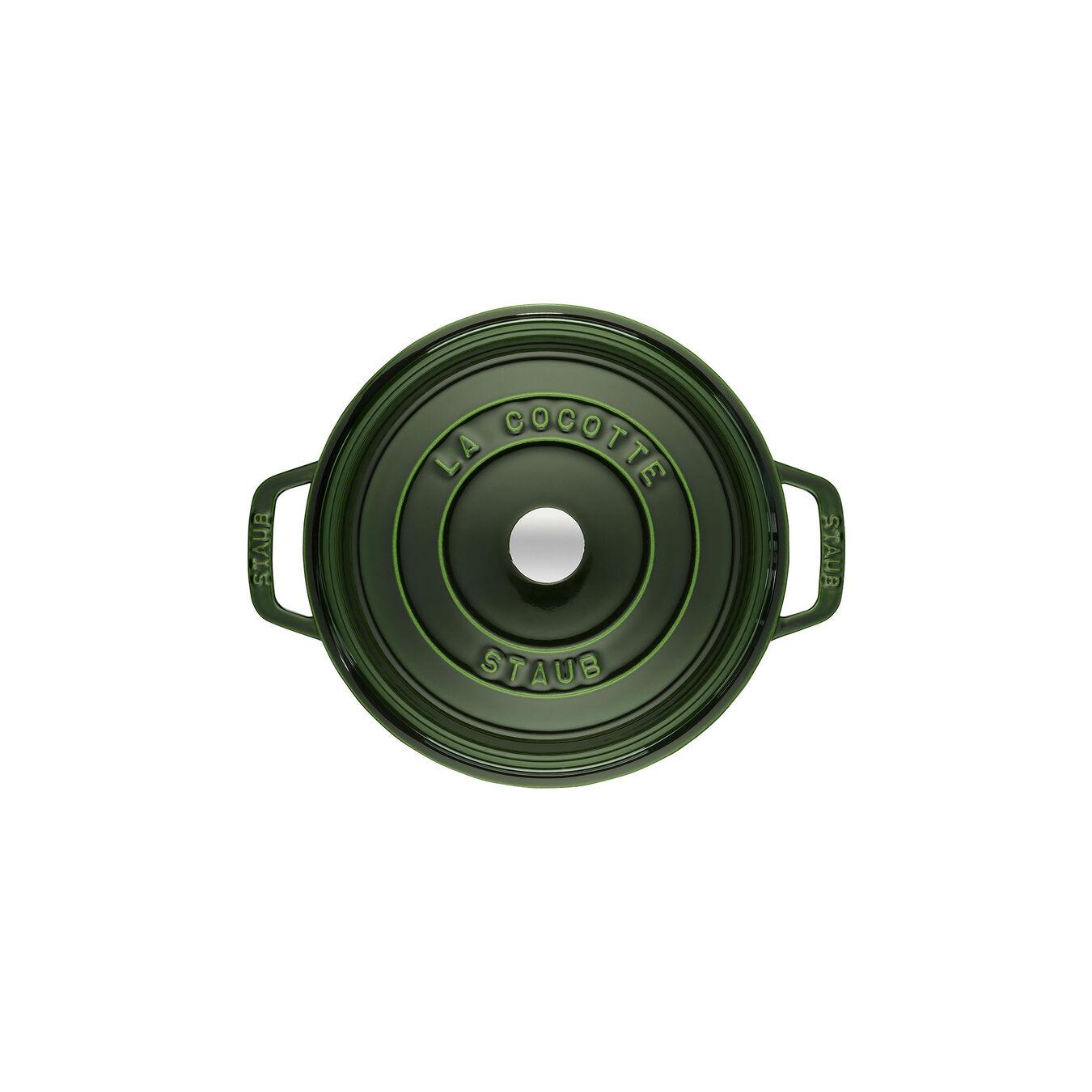 2.75 qt, round, Cocotte, basil,,large 2