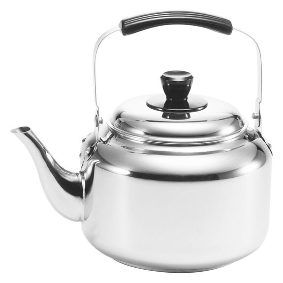 6-inch round Kettle, Silver,,large