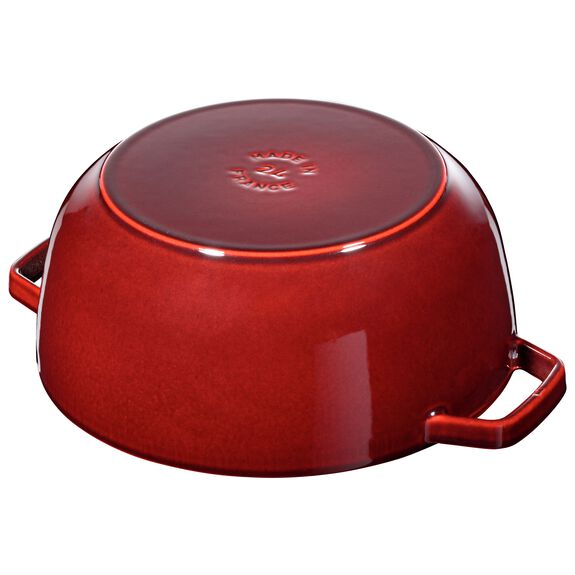 3.75-qt round French oven rooster, Grenadine,,large 6