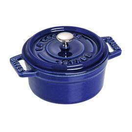 Staub Cast Iron, 2.75-qt round Cocotte, Dark Blue