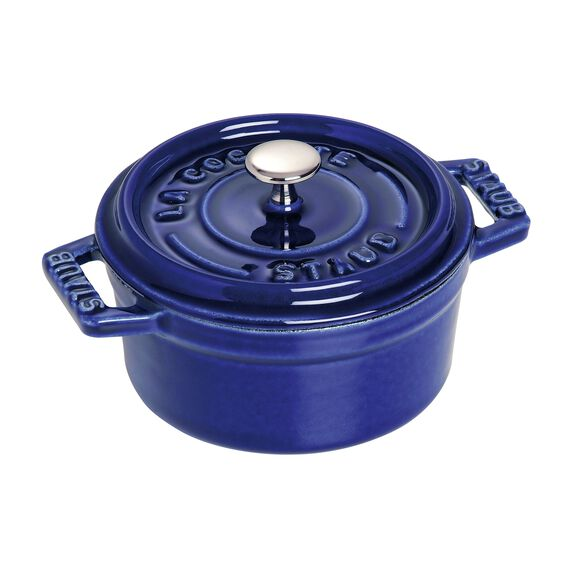 4-inch round Mini Cocotte, Dark Blue,,large