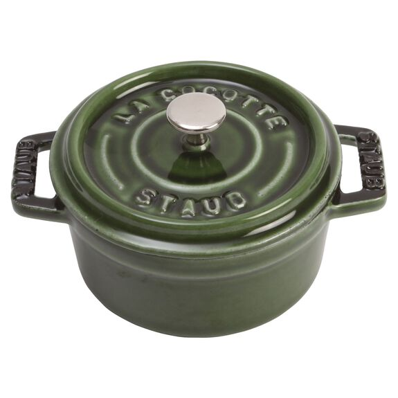 10-cm-/-4-inch round Mini Cocotte, Basil-Green,,large