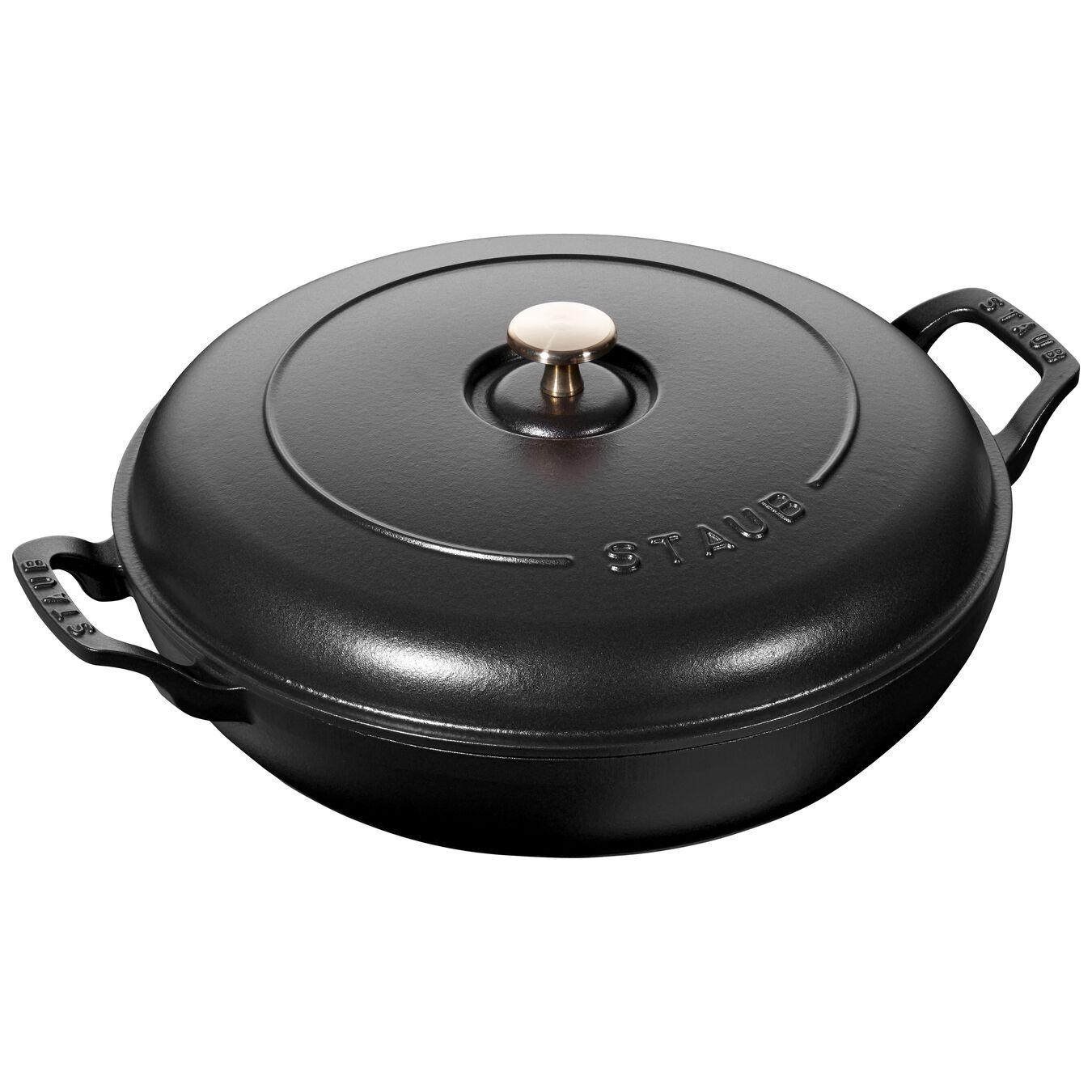 12-inch, Saute pan, black matte,,large 1