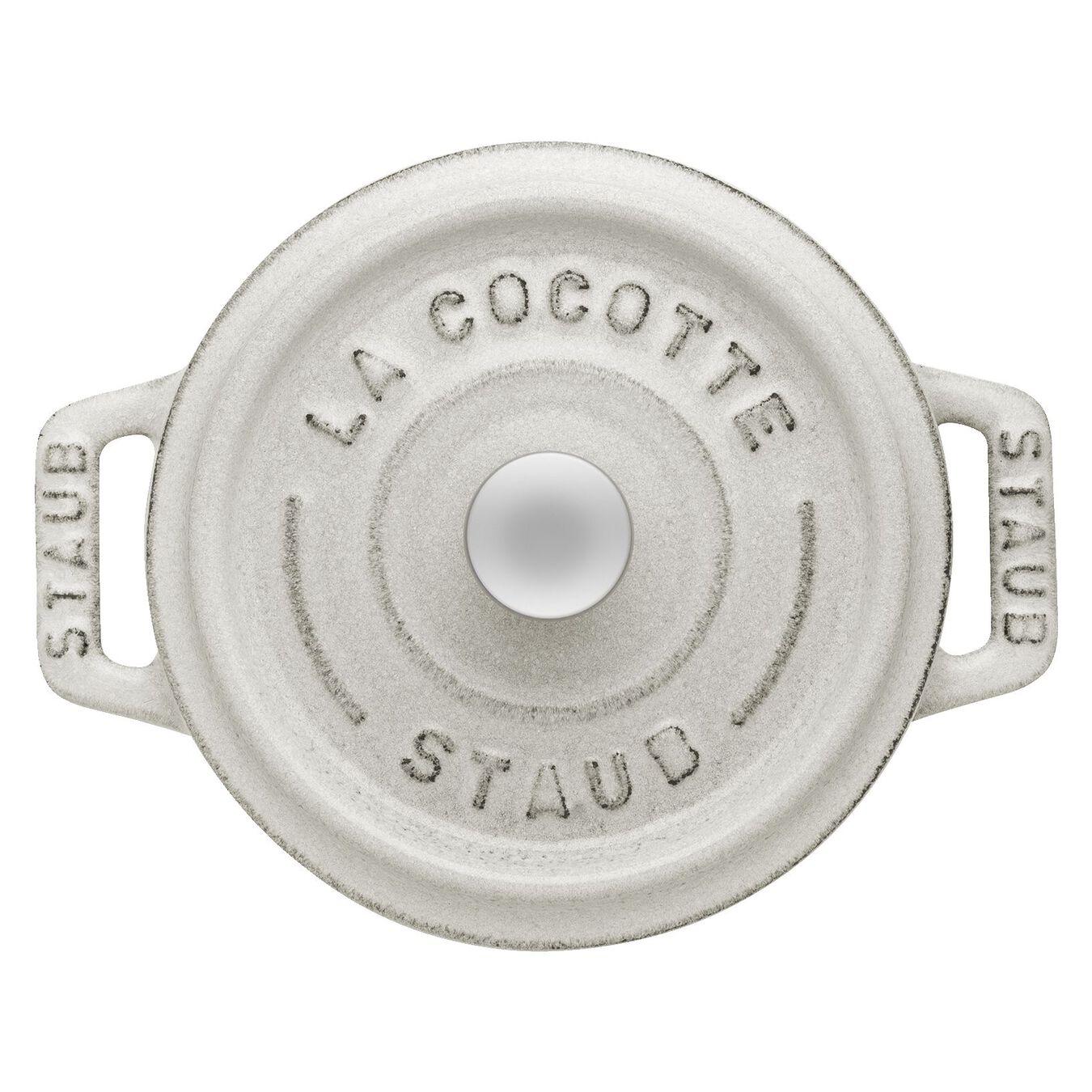 .25-qt Mini Round Cocotte - White Truffle,,large 3