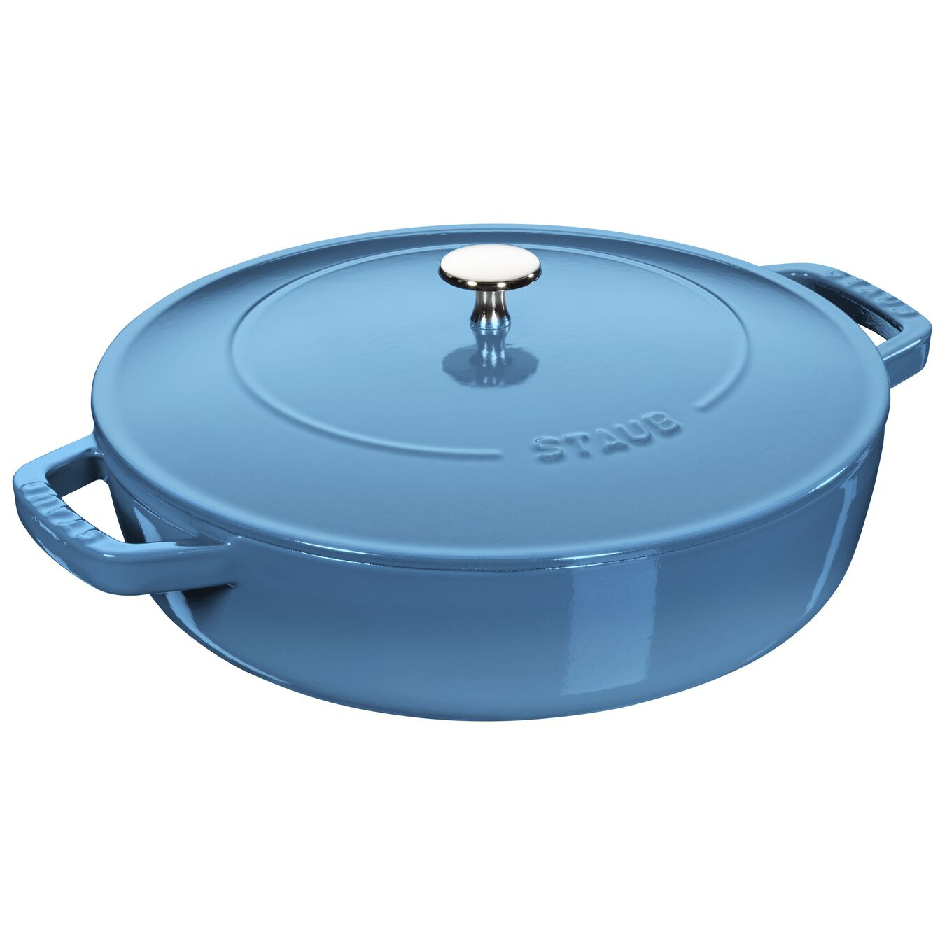 3.75 l Cast iron round Saute pan Chistera, ice-blue,,large 1