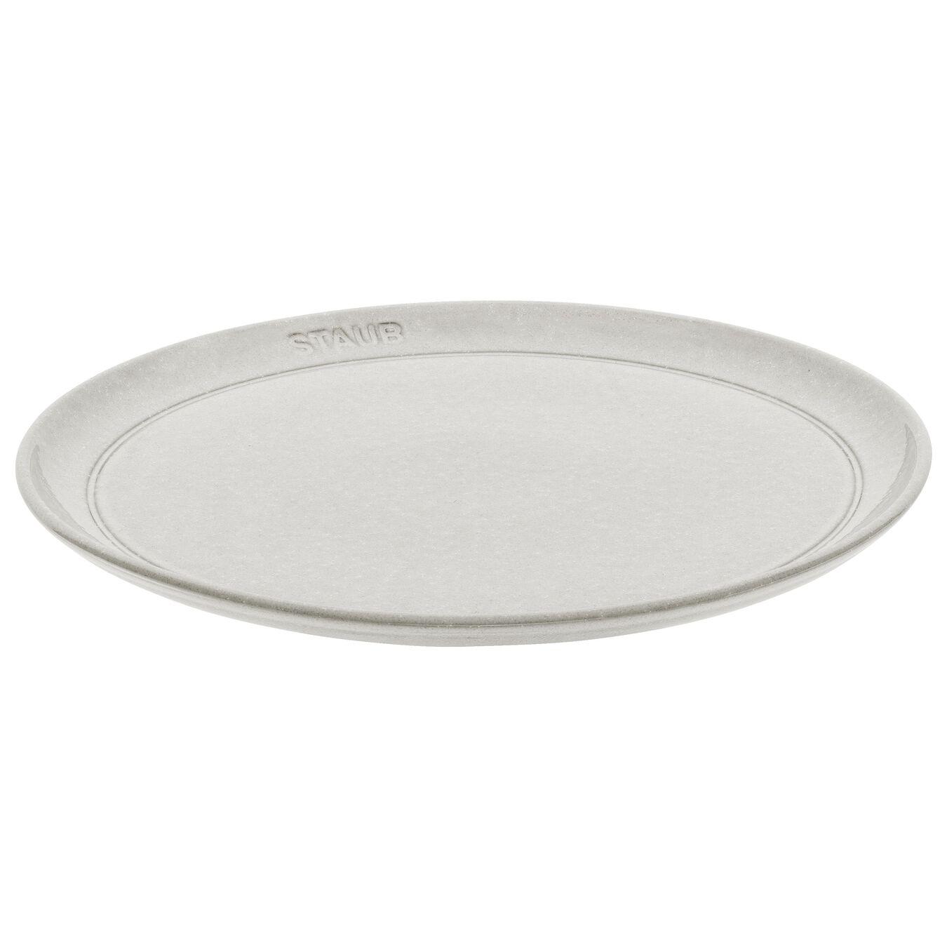 Pasta plate set, 4 Piece | white truffle | ceramic,,large 1