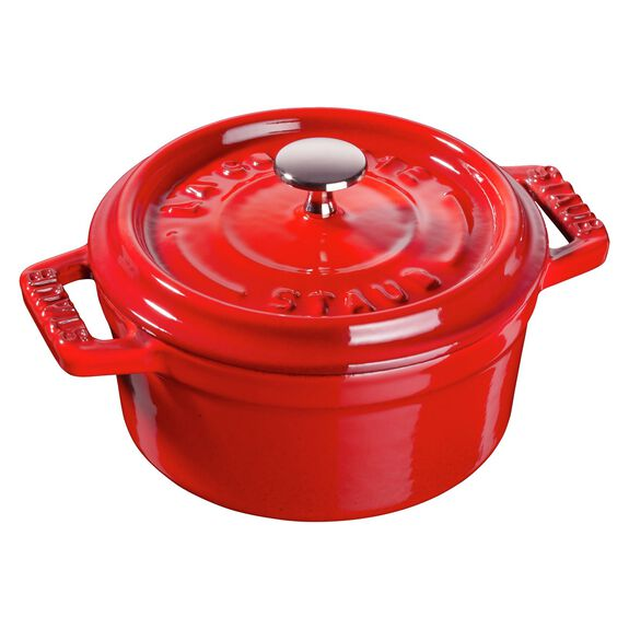 3.94-inch round Mini Cocotte, Cherry,,large 2