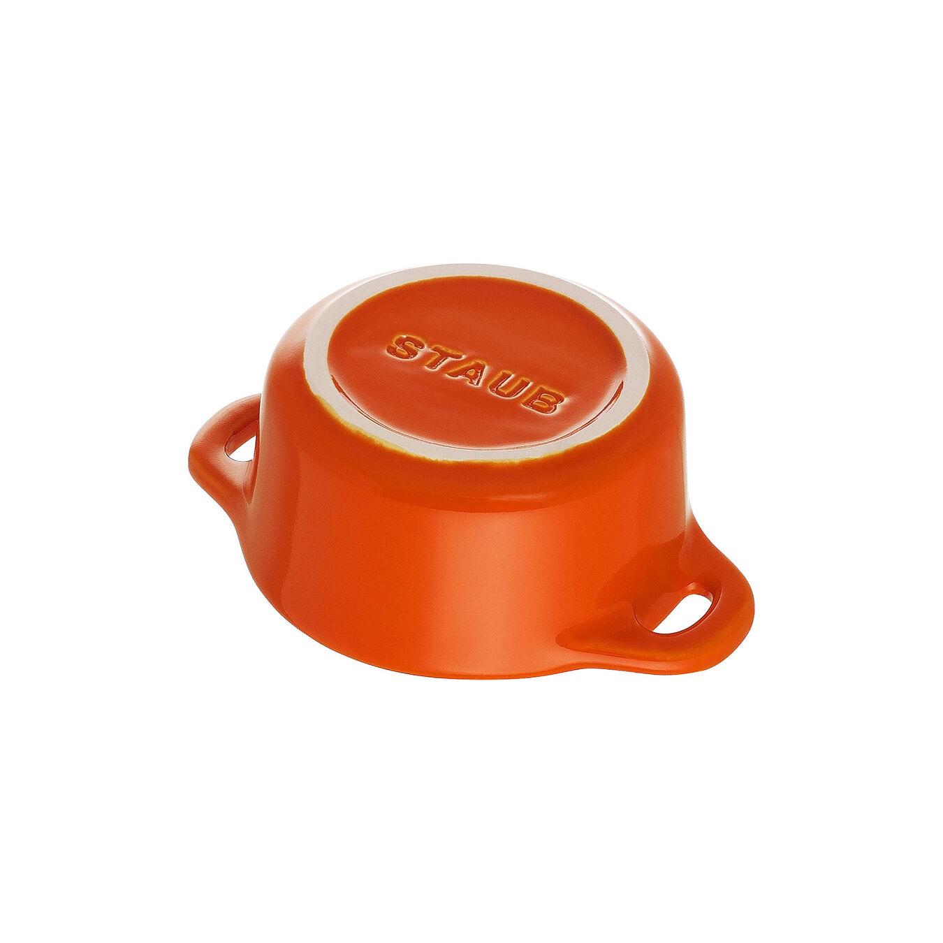 Mini Cocotte 10 cm, Rund, Orange, Stentøj,,large 5