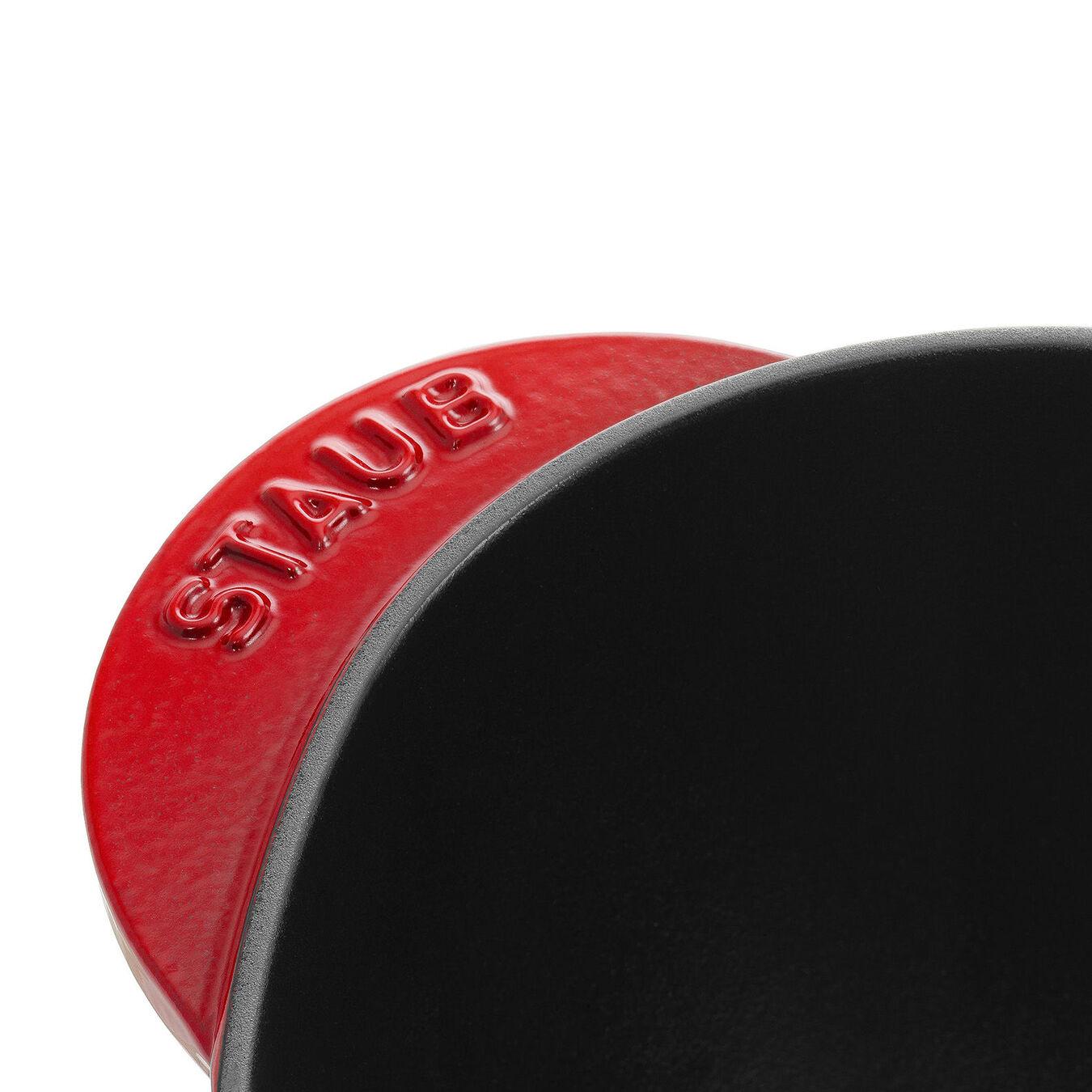 Caçarola 20 cm, coração, Vermelho cereja, Ferro fundido,,large 3