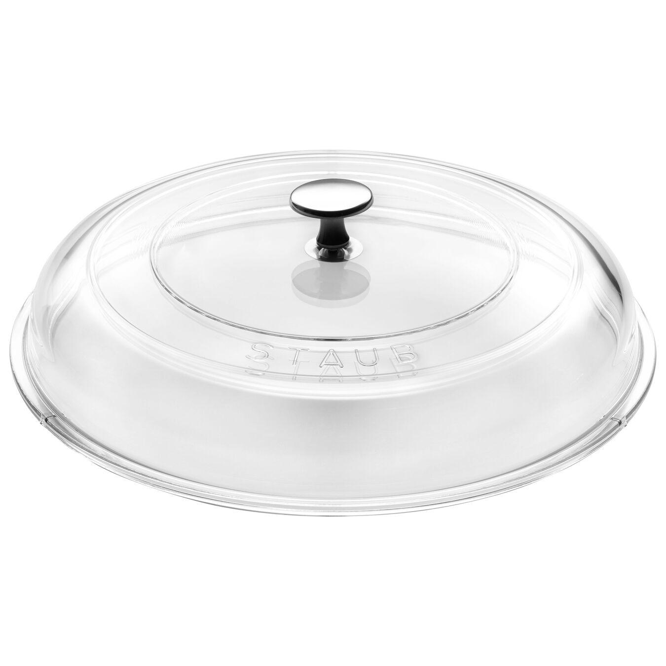 Lid domed, 28 cm | round | glass | transparent,,large 1