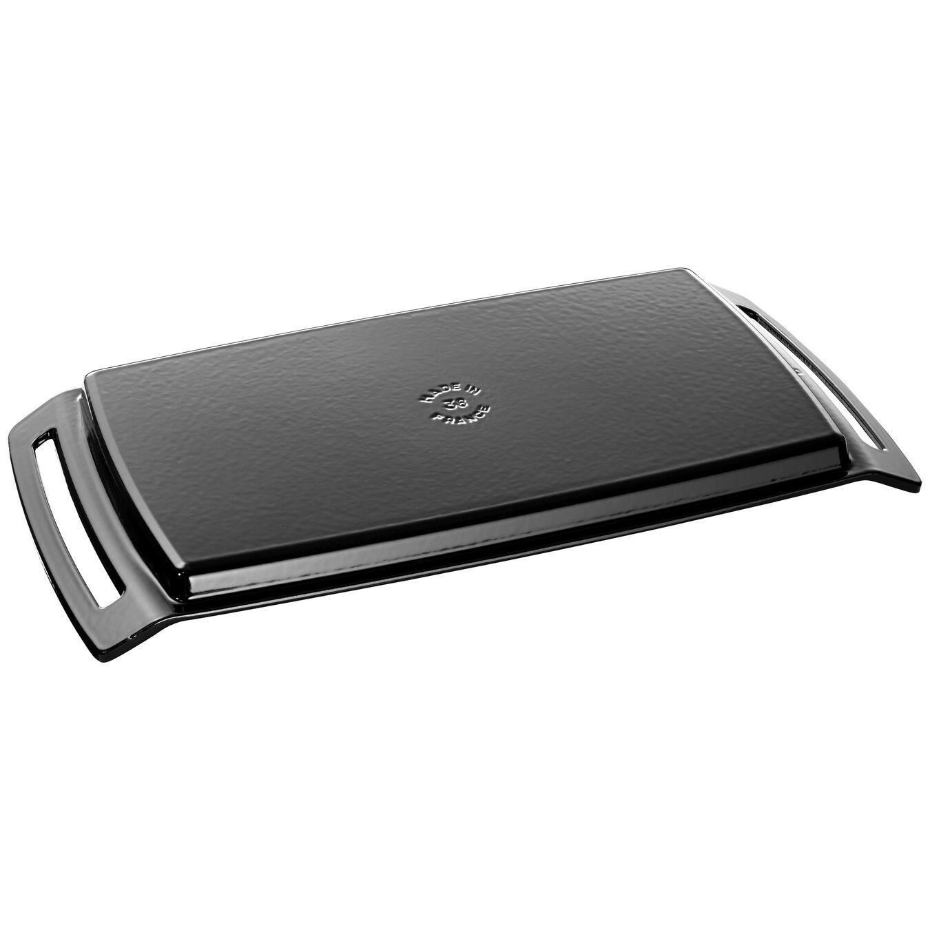 Plancha, 38 cm | Cast iron | Black | rectangular,,large 2
