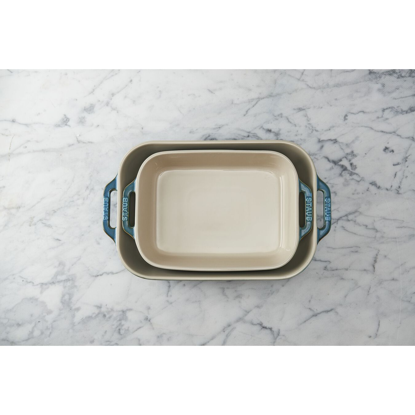 2-pc, Rectangular Baking Dish Set, rustic turquoise,,large 2