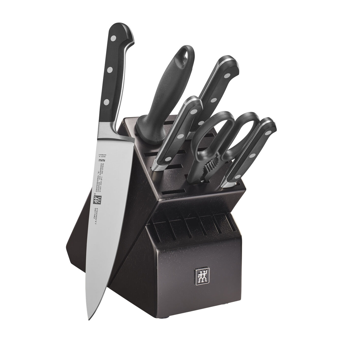 7-pc, Knife block set, Black Matte,,large 1