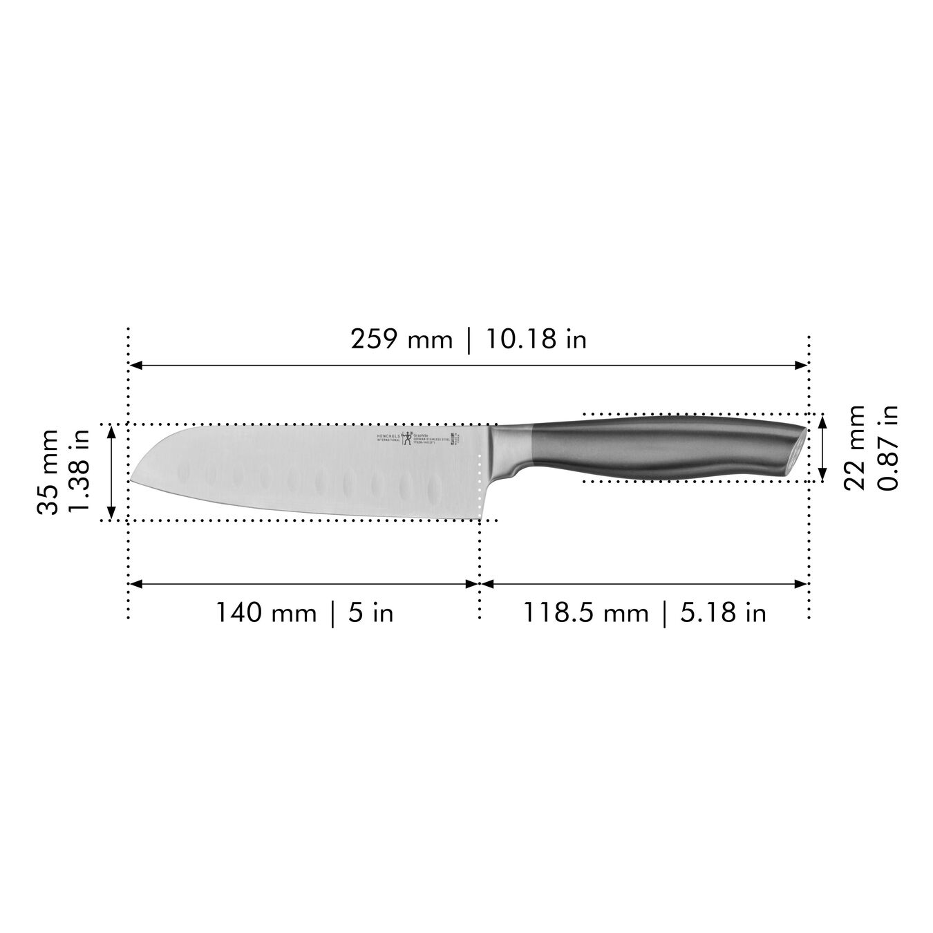 5-inch, Hollow Edge Santoku,,large 2