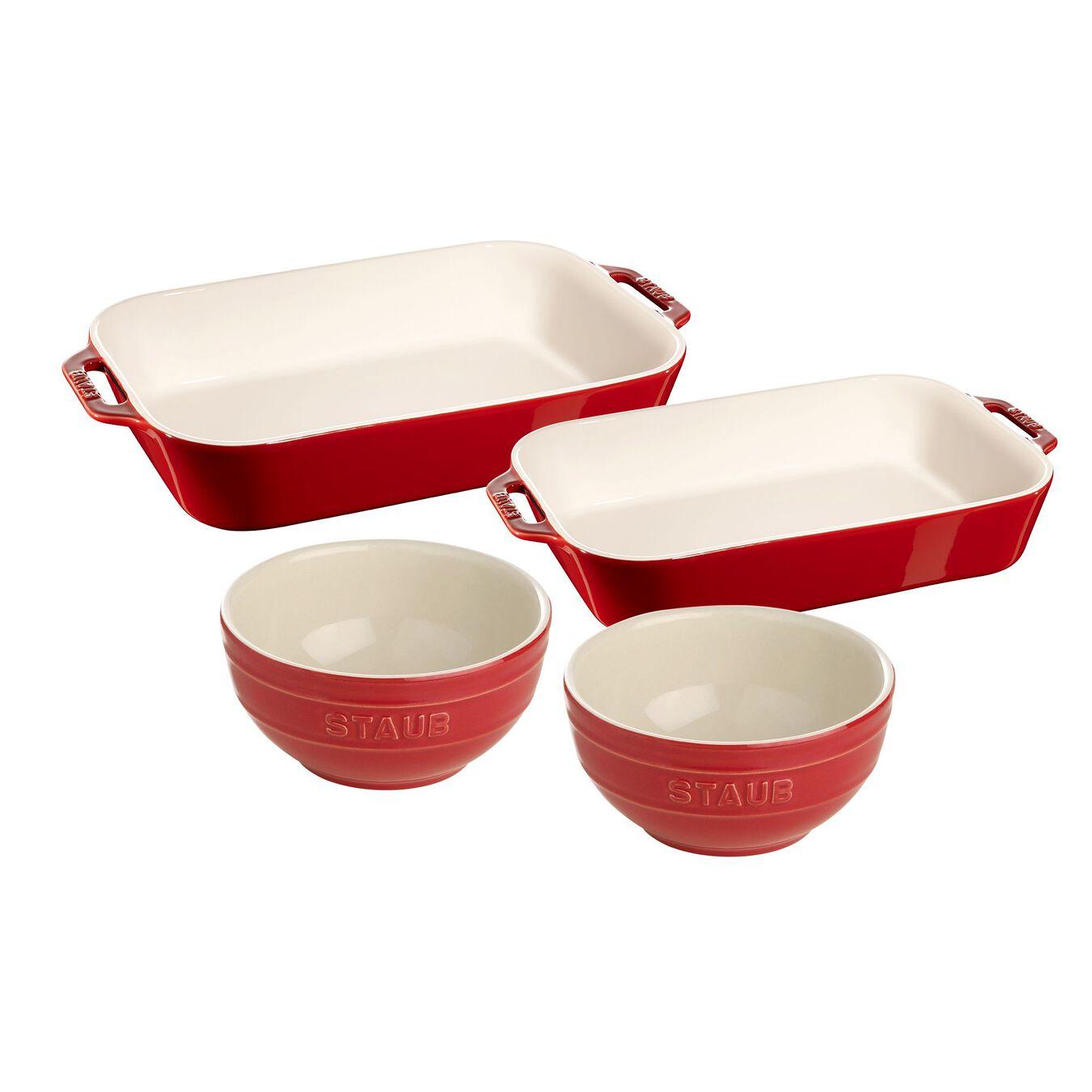 4-pc, Bakeware set, cherry,,large 1