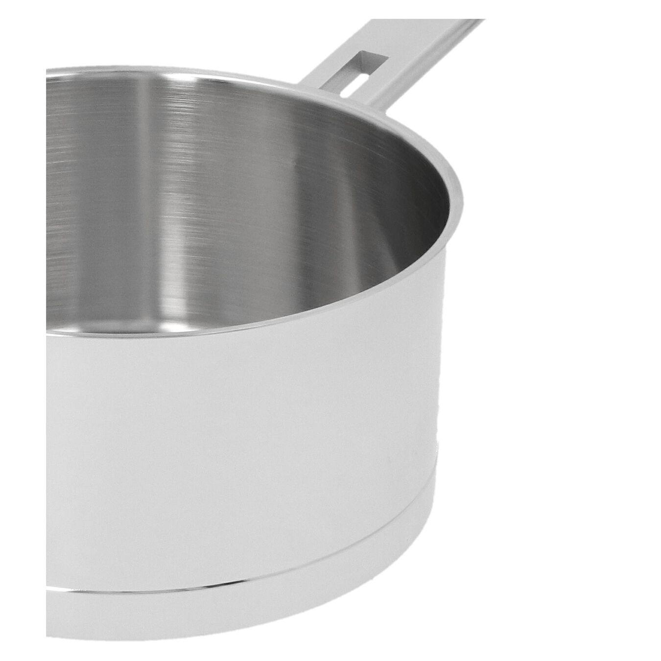 Sos Tenceresi Kapaklı | 18/10 Paslanmaz Çelik | 20 cm | Metalik Gri,,large 4