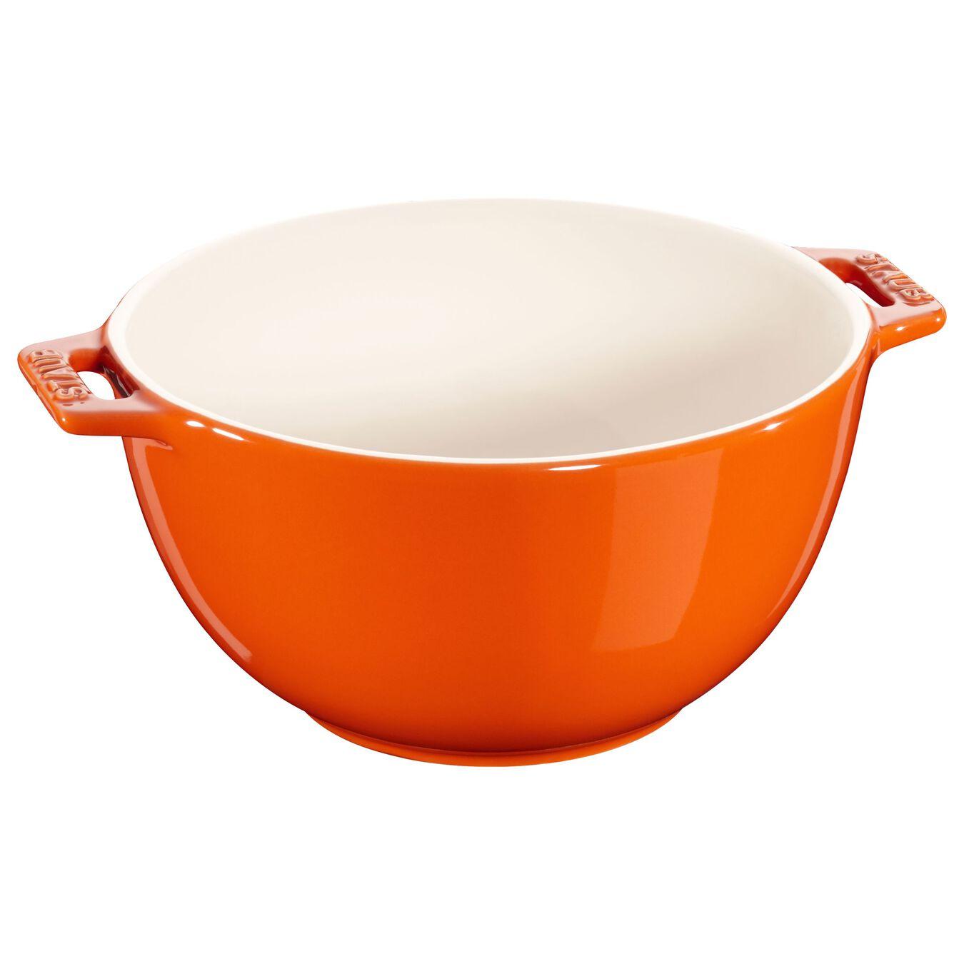 Bol 18 cm, Orange, Céramique,,large 1