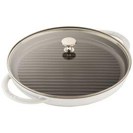 Staub Cast Iron, 12-inch Round Steam Grill - White