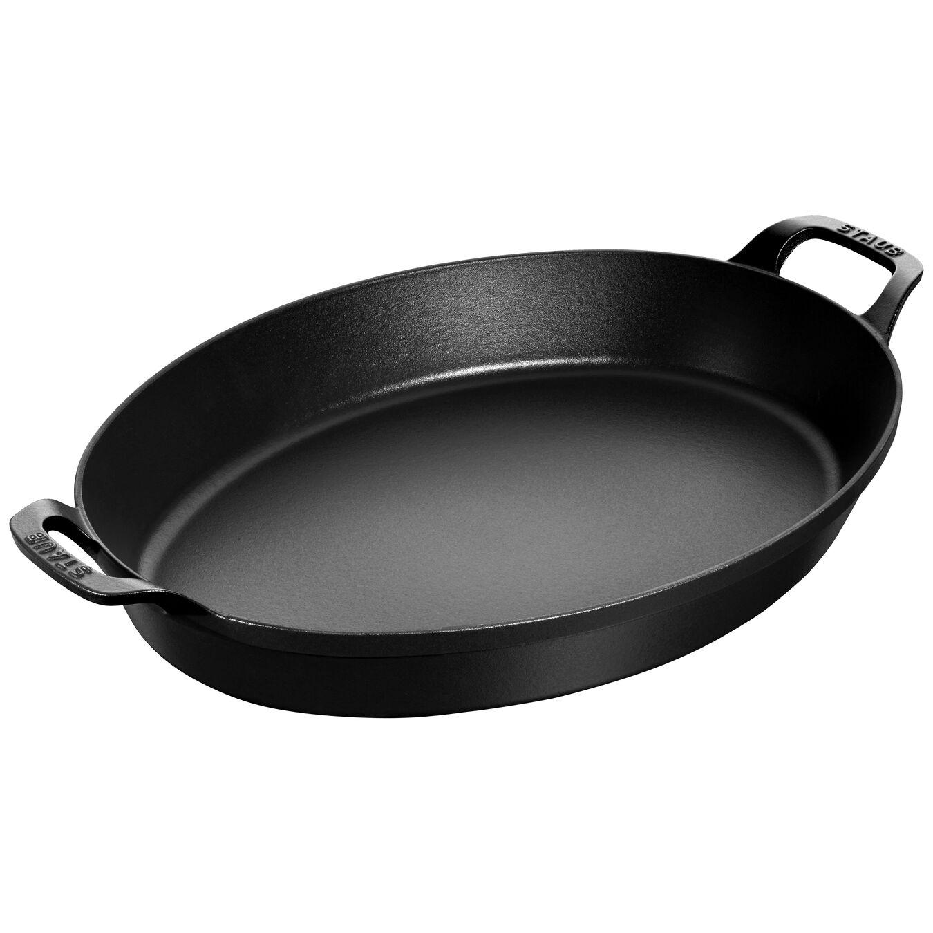 Plat à four 37 cm, Oval, Noir,,large 1