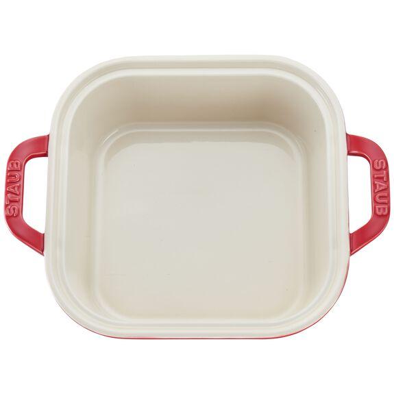 Ceramic Square Covered Baking Dish, Cherry,,large 2