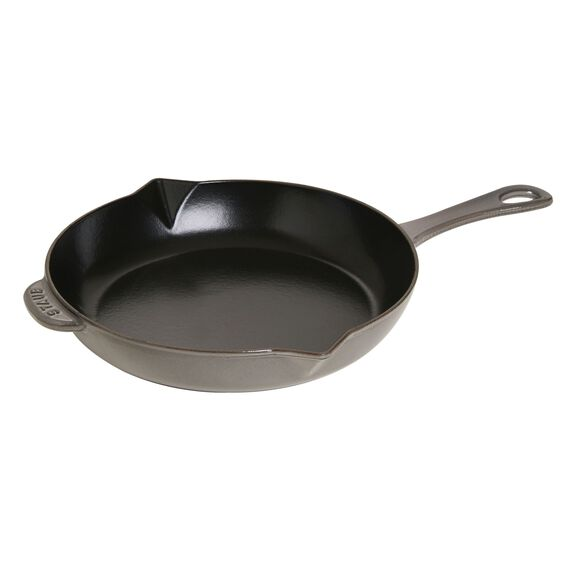 10-inch Cast iron Frying pan with pouring spout - Visual Imperfections,,large 2