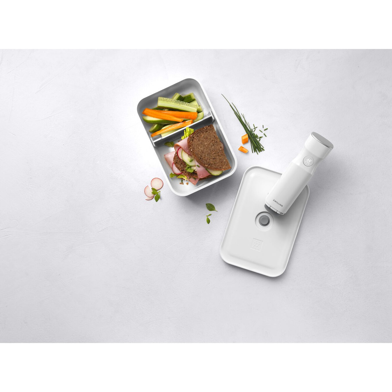 Vacuum lunch box, large, White,,large 5