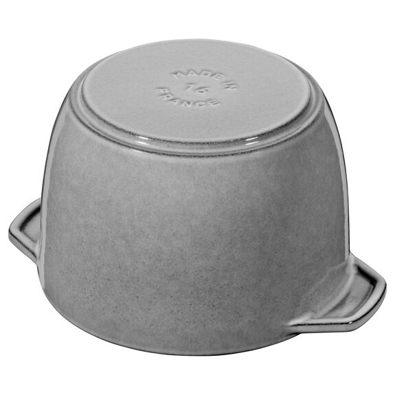 6.5-inch round Cast iron Rice Cocotte, Graphite Grey,,large 6