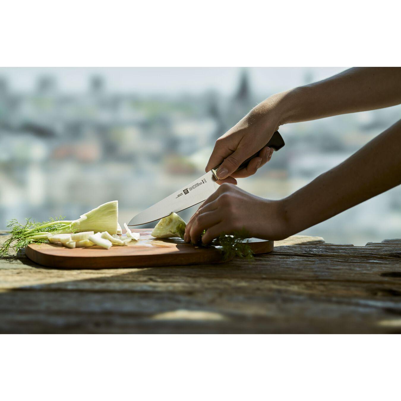 Coltello Chef compact liscio - 14 cm, forgiato, argento,,large 4