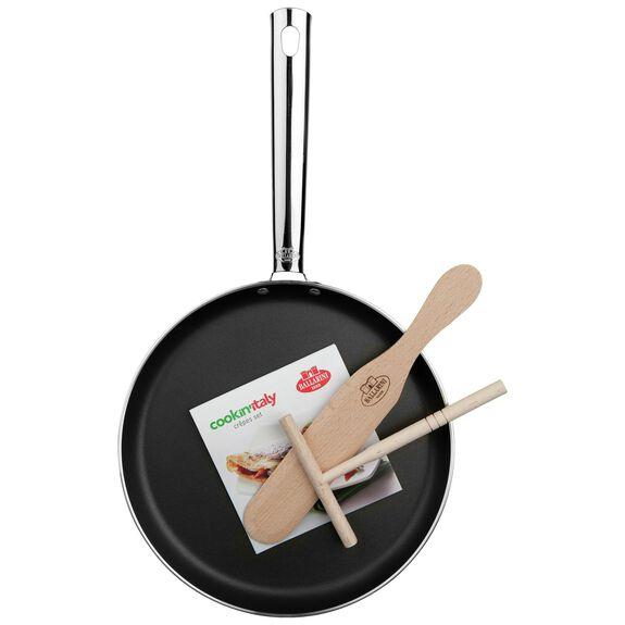 10-inch round PTFE Pancake pan, Black,,large