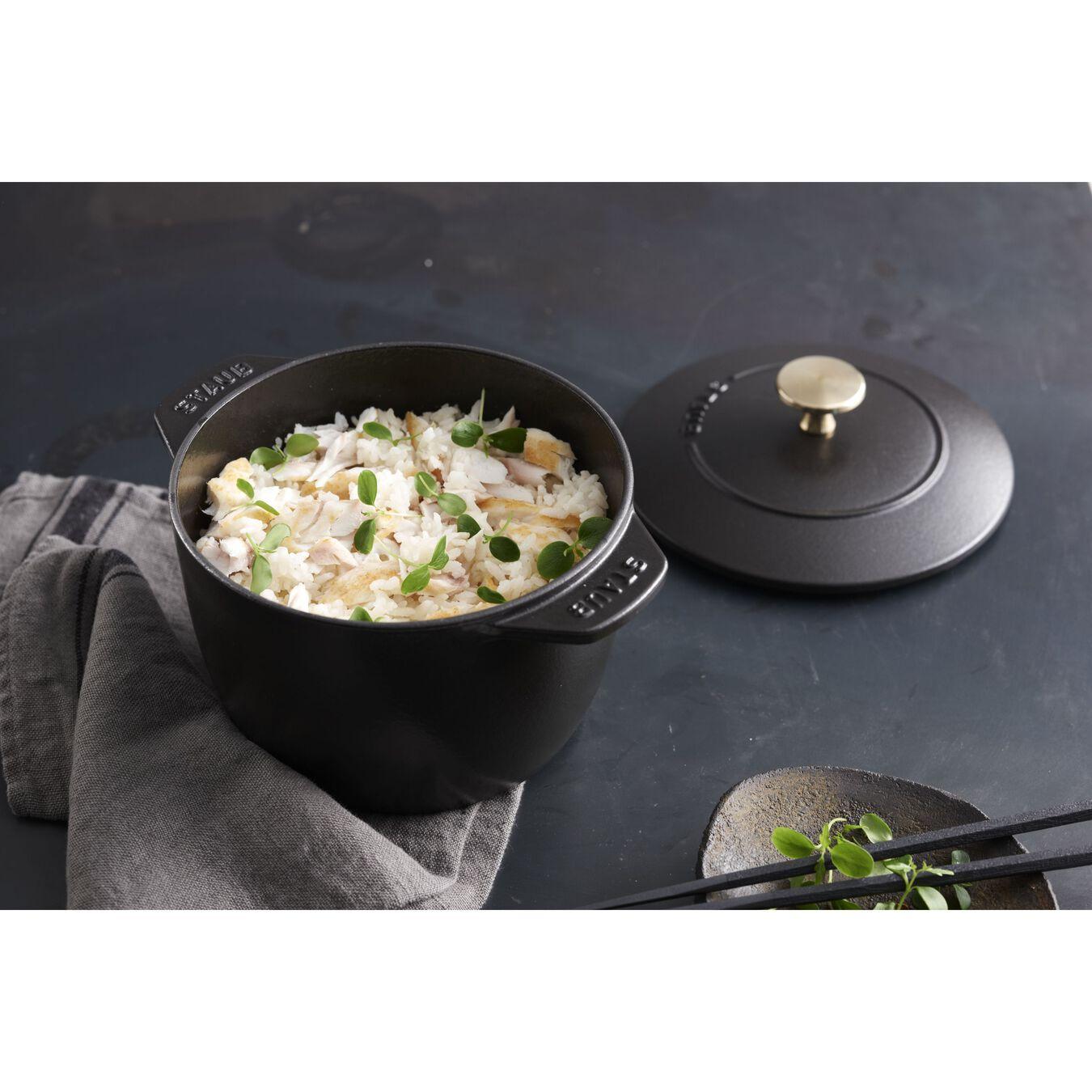 1.5 qt, Rice Cocotte, black matte,,large 12