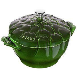 Staub Cast Iron, 3-qt Artichoke Cocotte, Basil