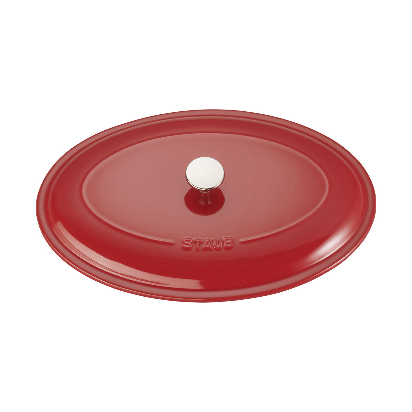 14-inch Oval Covered Baking Dish - Cherry,,large 4