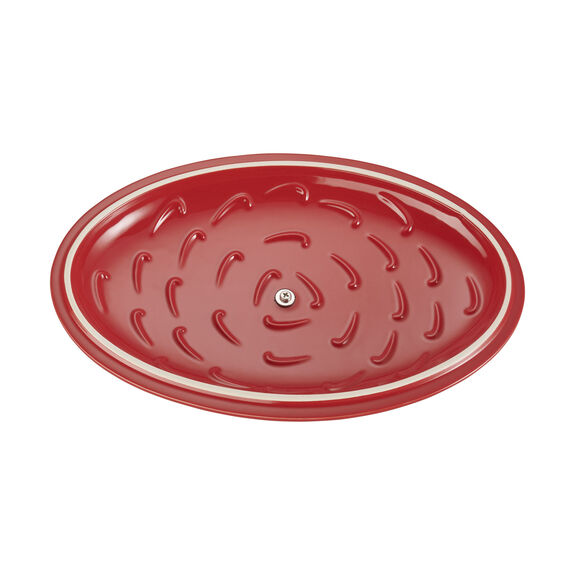Ceramic Oval Covered Baking Dish, Cherry,,large 5