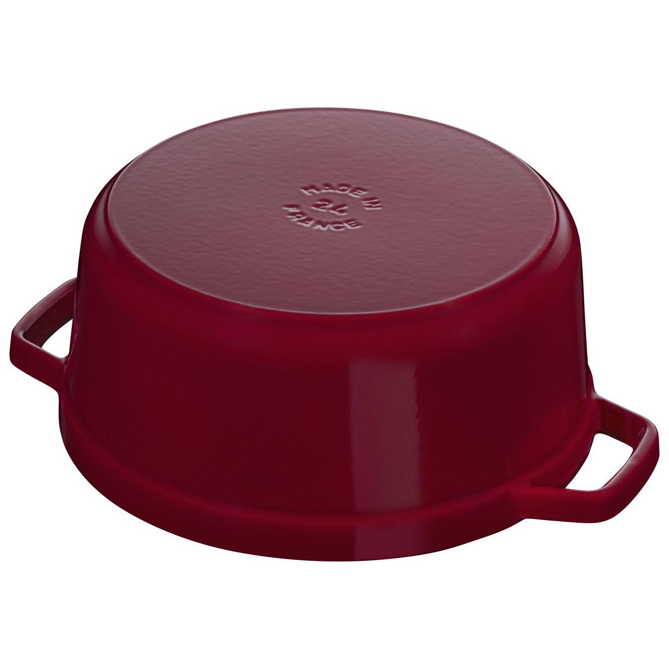 3.75 l Cast iron round Cocotte, Bordeaux - Visual Imperfections,,large 4