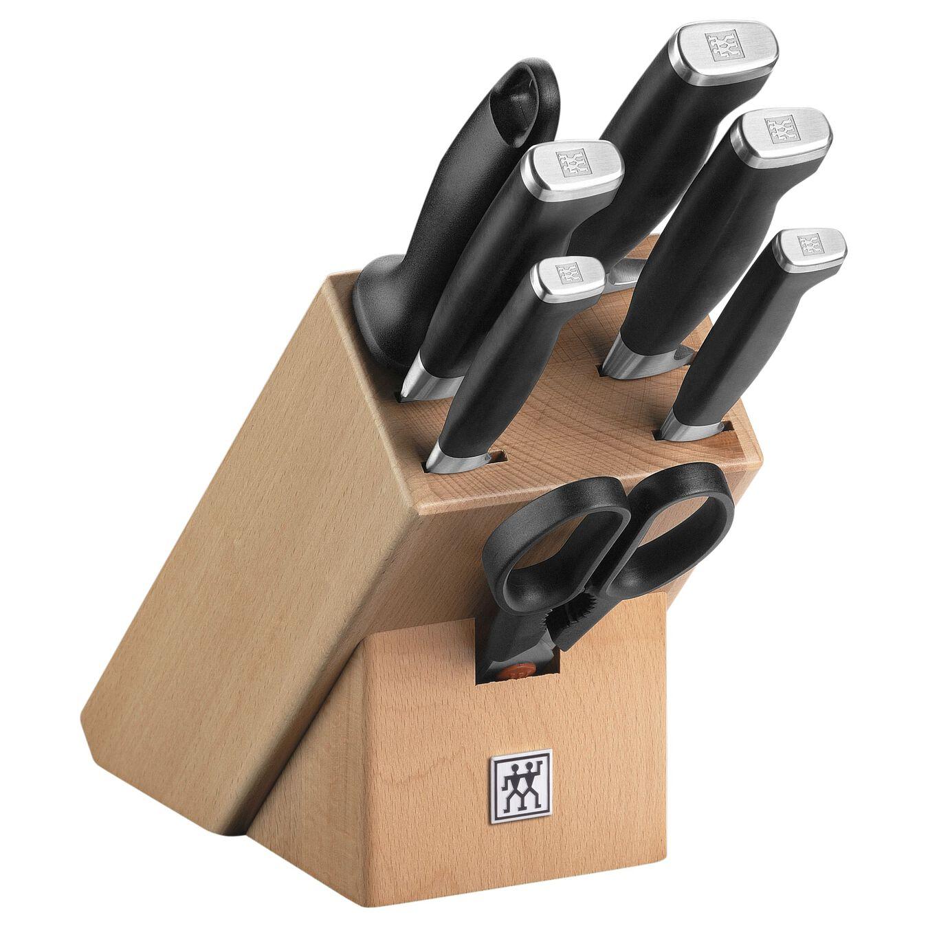 Bloc de couteaux 8-pcs, Hêtre,,large 1