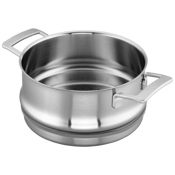 5.5-qt Stainless Steel Steamer Insert (Fits 8-qt Stock Pot & 5.5-qt Dutch Oven),,large